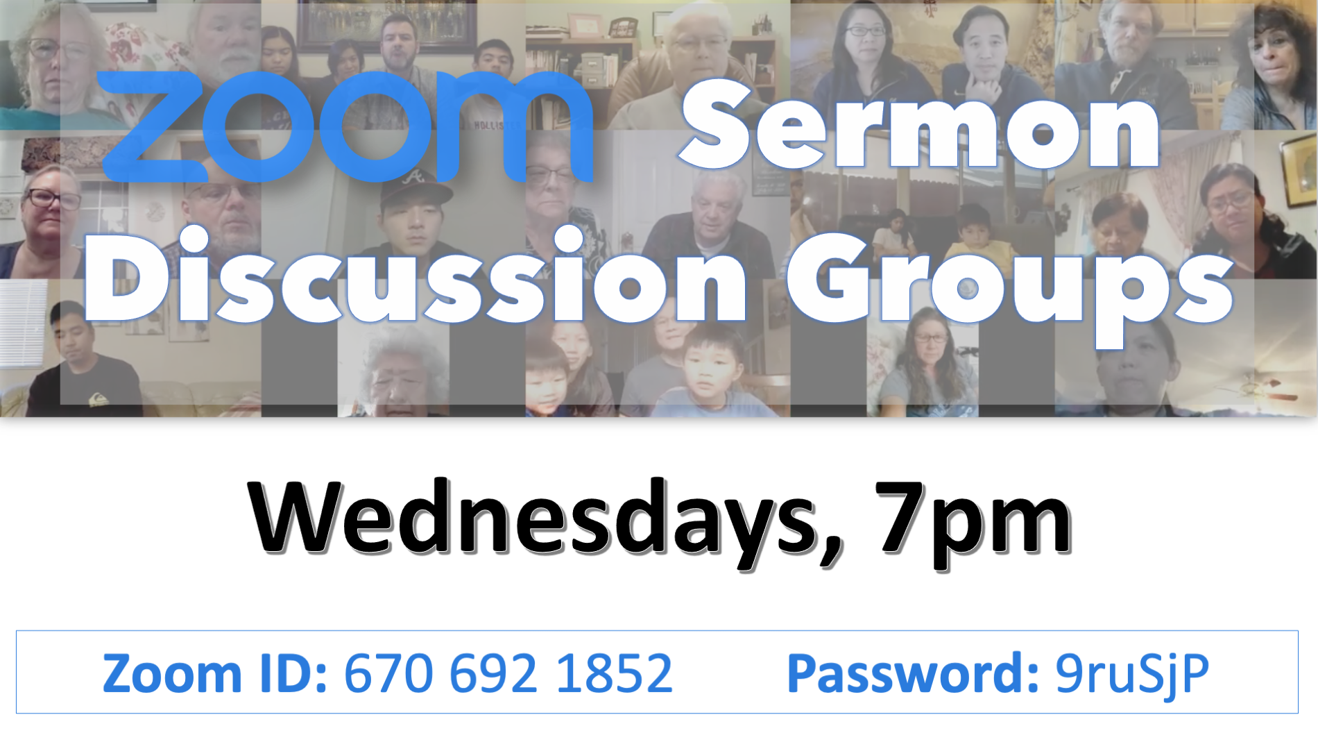 Zoom Sermon Discussion Groups jan-2021